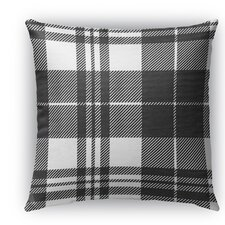 Best Choices Plaid Burlap Indoor/Outdoor Throw Pillow