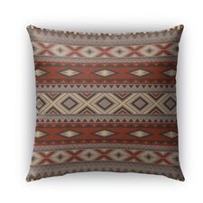Navajo Burlap Indoor/Outdoor Throw Pillow