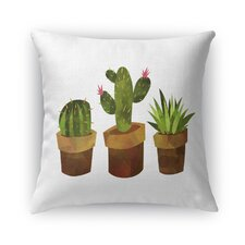 Cactus Burlap Indoor/Outdoor Throw Pillow