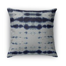 Shibori Stripe Burlap Indoor/Outdoor Throw Pillow