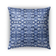Shibori Mirror Burlap Indoor/Outdoor Throw Pillow