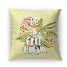 Good Human Burlap Indoor/Outdoor Throw Pillow