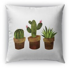 Spacial Price Cactus Indoor/Outdoor Throw Pillow with Zipper