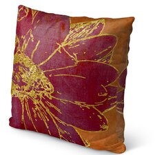 Flora Burlap Indoor/Outdoor Throw Pillow