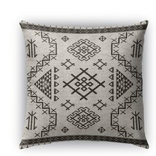 Aztec Burlap Indoor/Outdoor Throw Pillow