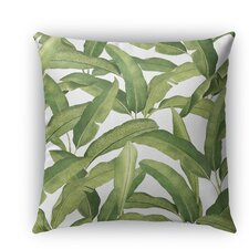 Banana Leaves Burlap Indoor/Outdoor Throw Pillow