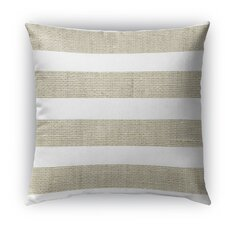 Nautical Burlap Indoor/Outdoor Throw Pillow