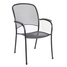 Monaco Stacking Mesh Dining Arm Chair (Set of 4)
