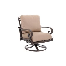 Riva Swivel Lounge Chair with Cushion (Set of 2)