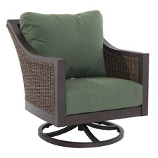 Biscay Swivel Lounge Rocking Chair with Cushions (Set of 2)