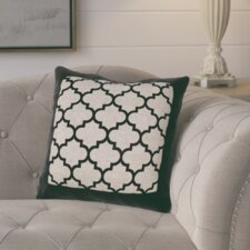 Alicia Quatrefoil Burlap Outdoor Throw Pillow