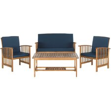 Elina 4 Piece Bench Seating Group with Cushion