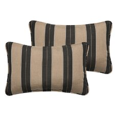 Crestwood Outdoor Sunbrella Lumbar Pillow (Set of 2)