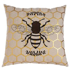 Vitrolles Nature's Bounty Bee Indoor/Outdoor Throw Pillow