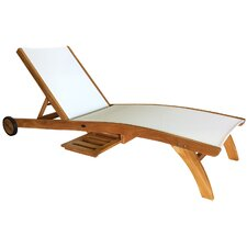 Miami Teak Chaise Lounge