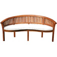 Peanut Garden Bench with Cushion