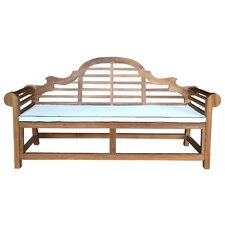 Lutyens Teak Garden Bench with Cushion