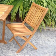 Santa Barbara Teak Folding Dining Side Chair (Set of 2)