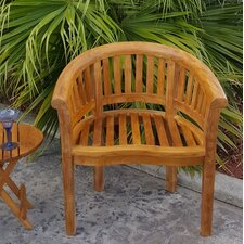 Peanut Teak Dining Arm Chair