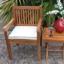 Elzas Teak Dining Arm Chair with Cushion