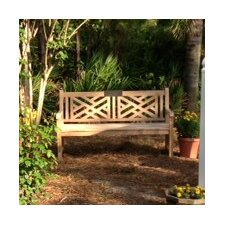 Chippendale Teak Garden Bench with Cushion