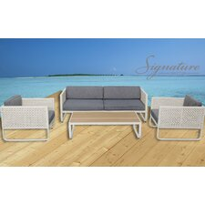 Maui 4 Piece Sofa Seating Group with Cushions