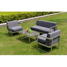 Maui 4 Piece Deep Seating Group with Cushion