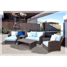 Assembled 5 Piece Deep Seating Group with Cushion