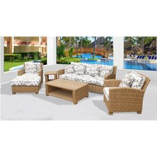 Assembled 6 Piece Deep Seating Group with Cushion