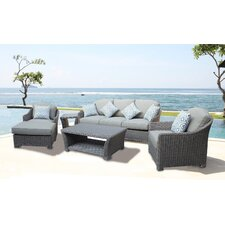 Coupon Assembled 5 Piece Deep Seating Group with Cushion