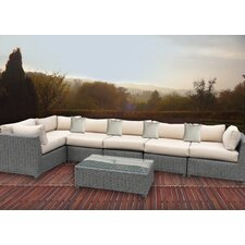 Discount 7 Piece Sectional Seating Group with Cushions