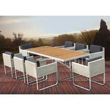 KQ Maui 9 Piece Dining Set with Cushions