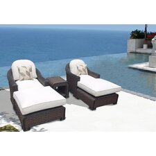 Montego Bay Premium Lush 5 Piece Deep Seating Group with Cushions