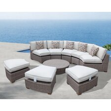 Bayside Finest Quality 9 Piece Deep Seating Group with Cushion