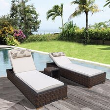 Montego Bay Lush and Stylish 3 Piece Chaise Lounge with Cushion