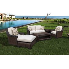 Montego Bay Lush and Stylish 4 Piece Deep Seating Group with Cushions