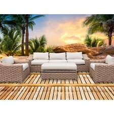 Roots 6 Piece Sectional Seating Group with Cushions