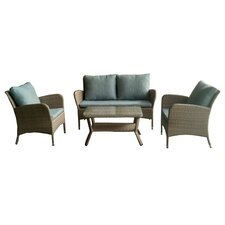 Read Reviews KQ Maui 4 Piece Lounge Seating Group with Cushion