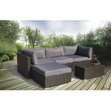 Deluxe Overstuffed 5 Piece Sectional Seating Group with Cushions