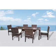 Roots Premium 7 Piece Dining Set with Cushions