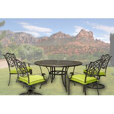 Elegantly Crafted Aluminum 5 Piece Dining Set
