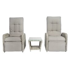 Vallauris 3 Piece Recliner Seating Group with Cushion