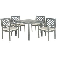 Bradbury 5 Piece Dining Set with Cushions