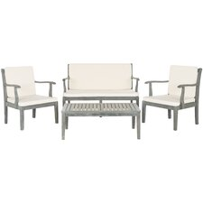Modern Fresno 4 Piece Seating Group with Cushions