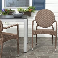 Valdez Stacking Dining Arm Chair (Set of 2)