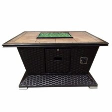 Savings Wicker Natural Vent Gas Fire Pit Table