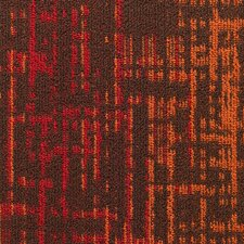 "Haverill 24"" x 24"" Carpet Tile in Cayenne"