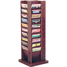 40 Pocket Magazine Rotary Floor Display