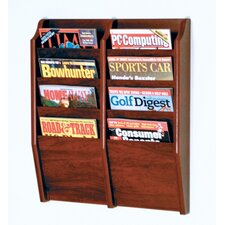 8 Pocket Wall Mount Magazine Rack