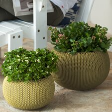Cozie 2-Piece Plastic Pot Planter Set
